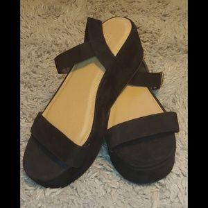 Asos toucan wide fit wedge sandels